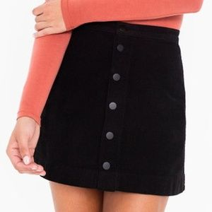 American Apparel Corduroy Button-Front ALine Skirt